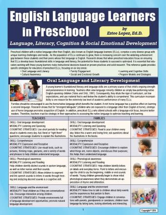English Language Learners in Preschool