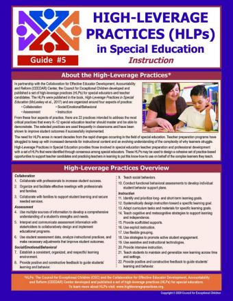 HLPs in Special Education Instruction Guide (#5)