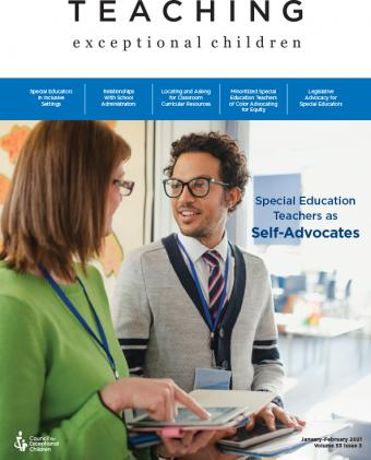 TEACHING Exceptional Children Journal Teachers as Self-Advocates Issue (Volume 53, Issue 3)